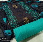Kavya Pure Cotton Batik Dress Material ( 4 Pcs Set )