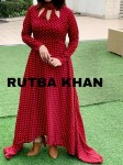 Rutba Khan Princess Trail Gown ( 4 Pcs Catalog )