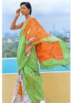 Hand Block Printed Saree (6Pc Set)
