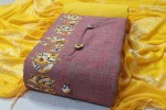 Khadi Cotton Dress Material- (4Pc Set)