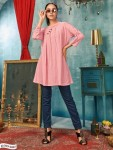 Sally South Cotton Stripes Kurtis ( 4 pcs Catalog )