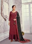 R Hariks Mahewish Jam Satin Dress material ( 8 pc catalog)