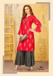 Rang Tarang Platina Kurti  With Palazzo ( 6 pc catalog)