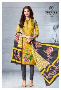 Deeptex Chief Guest Vol-15 Pure Cotton Dress Material (15 pc catalog)