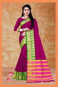 Aura Leaf Cotton Silk Saree ( 9 Pcs Catalog )