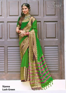 Aura Siyona Cotton Silk Saree ( 9 Pcs Catalog )