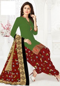 Sandhya Resham Border Vol-1 Cotton Dress Material ( 12 pc catalog)