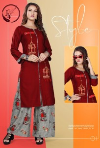 JLF Plazo House vol-3 Kurti and Plazzo (8 pcs Catalog)
