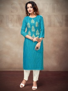 Sitka Jeffery Cotton Kurtis ( 4 Pcs Catalog )