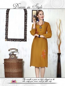 NRI Collection Hinaa Rayon Kurti ( 12 Pcs catalog )
