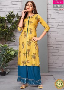 Diya Trends Sparkle Vol-1 Kurti With Palazzo And Pant (14 pcs catalog )