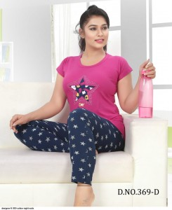 Designer FT 369 Cotton Night Suits ( 2 Pcs Catalog )
