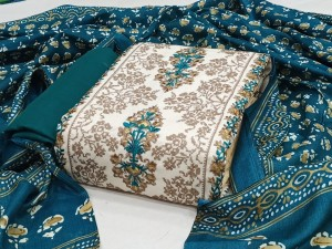 Cotton Flex With Heavy Embroidery Material(4Pc set)