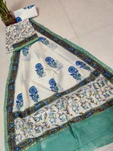 Exclusive New Hand Block Printed Chanderi Silk Dress Materials