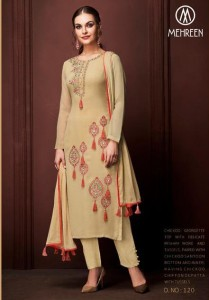 Mehreen Charm Georgette Dress Material (7 Pc Catalog)