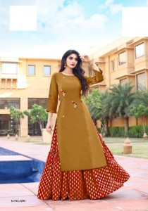 Yami Fashion Lipi Vol-2 kurta With Skrit ( 6 Pcs catalog )