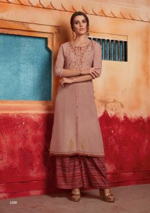 Rangoon First Look Kurti With Plazzo ( 8 pc catalog)