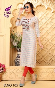 Kunj Viva Vol - 1 Cotton Kurtis ( 8 Pcs Catalog )