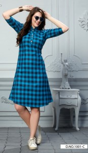 Vee fab checksmate Cotton Kurtis ( 6 Pc Catalog )