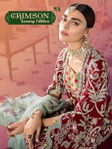Shree Fb Crimson Luxury Edition NX Dress Material ( 5 Pcs Catalog )