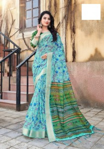 Apple Arcelia Linen Saree ( 12 Pcs Catalog )
