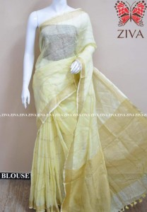 Ziva Exclusive Cotton Linen Saree