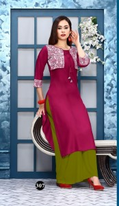 Royal Collection Iconic Rayon Kurti  ( 10 Pcs Catalog )