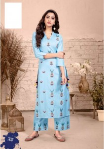 Kajal Style Fashion Label Vol-3 Kurti With Palazzo And Pant ( 12 pcs catalog )