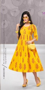 Mayra Elegance Cotton Kurtis ( 6 Pcs Catalog )