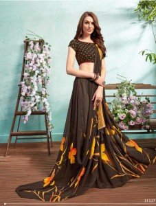 Bela Fashion Crystal Georgette Saree ( 11 Pcs Catalog )