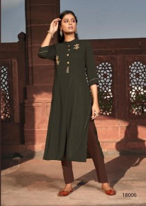Kalki Fashion Pehchan Rayon Kurti ( 9 Pcs Catalog )
