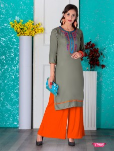 Honey Palladium Kurti With Plazo ( 6 Pcs Catalog )