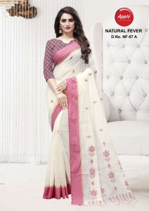 Apple Natural Fever Linen Saree  ( 4 Pcs Catalog )