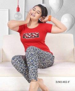 Designer FT 402 Cotton Night Suits ( 6 Pcs Catalog )