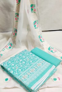 Cotton Suits  with Embroidery Work ( 4 Pcs Set )