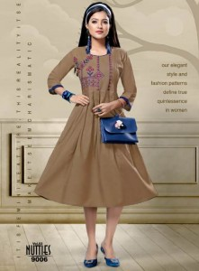 Mayra Nutties Cotton Slub Kurtis (8 pcs catalog )