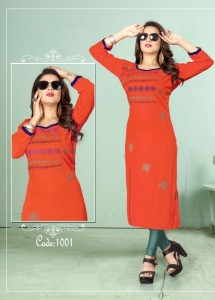 Poorvi Designer Culture Vol-1 Kurti ( 6 Pcs Catalog )