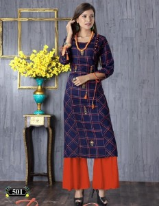Trendy Beautistic Rayon Kurtis (8 pcs catalog )