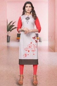 CT-12 Digital Printed Crepe Kurtis ( 6 Pcs catalog )