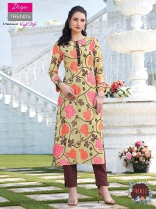 Diya Trendz Biba's Vol-4 Kurtis With Palazzo And Pant ( 12 Pcs Catalog )