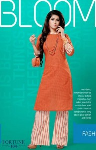 Kinti Fortune Kurti With Palazzo ( 4 pcs catalog )