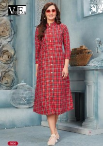 Vee fab Winter Grace Vol-5 Kurtis ( 6 Pc Catalog )
