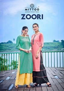 Mittoo Zoori Top With Sharara ( 8 Pcs Catalog )