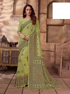 Apple sarees Madhubani Premium Silk Saree ( 12 Pcs Catalog )