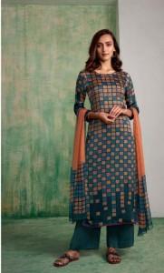 Ganga Mughal Cotton Dress Material ( 6 Pcs Catalog )