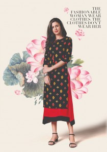 Rudhi Dressline Black Magic Rayon kurti ( 6 Pcs catalog )