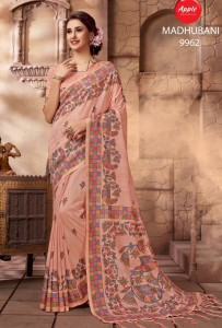 Apple Madhubani Premium Sarees (12 pc catalog)