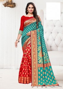 Apple Sarojini Silk Saree ( 4 Pcs Catalog )