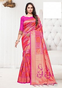 Apple Lotas Patola Silk Saree ( 6 Pcs Catalog )