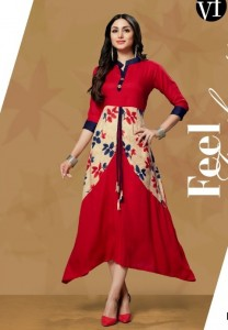 Vee Fab India Glamour Kurtis ( 6 Pcs Catalog )